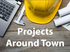 Links to information about DPW and Major Utility Projects Around Town