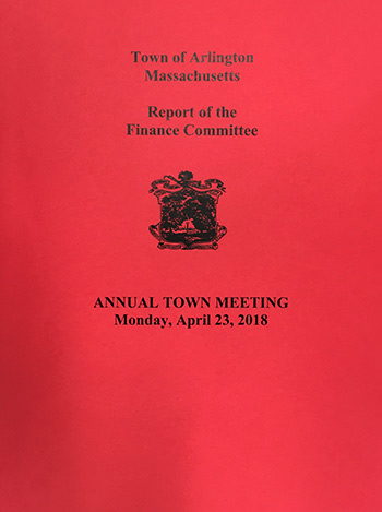 Click here to read Finance Committee Reports to Town Meeting