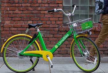 parked LimeBike
