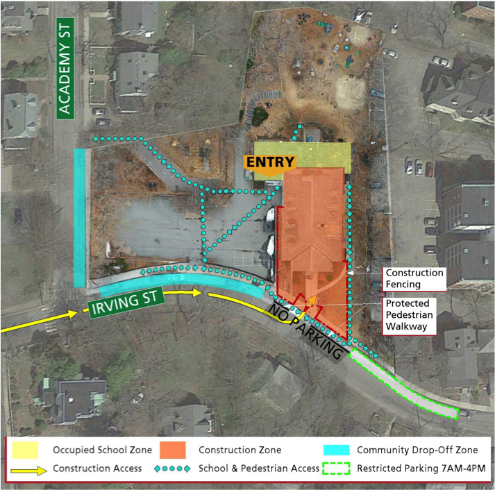 Parmenter Renovation Impacts Map