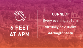 Connect every evening at 6PM with your neighbors, keeping a 6 foot distance