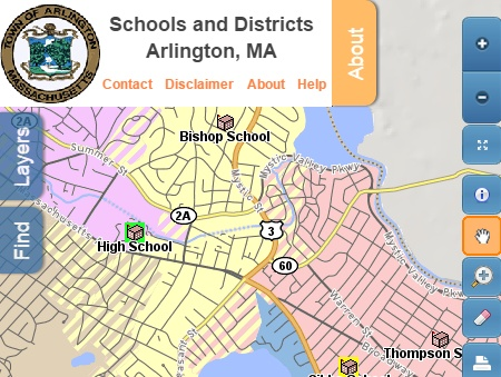 School District and Walk Safety Map